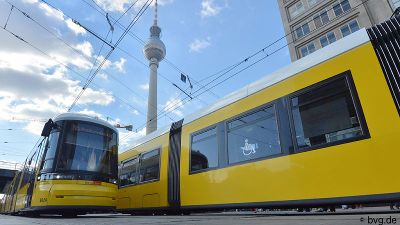 Public transportation in Berlin is brought to you by the BVG