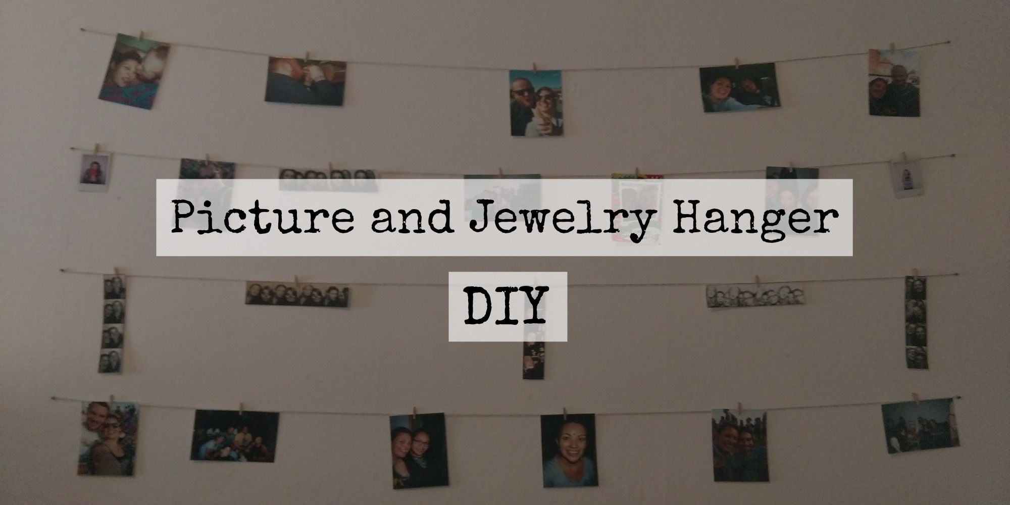 DIY picture and jewelry hanger
